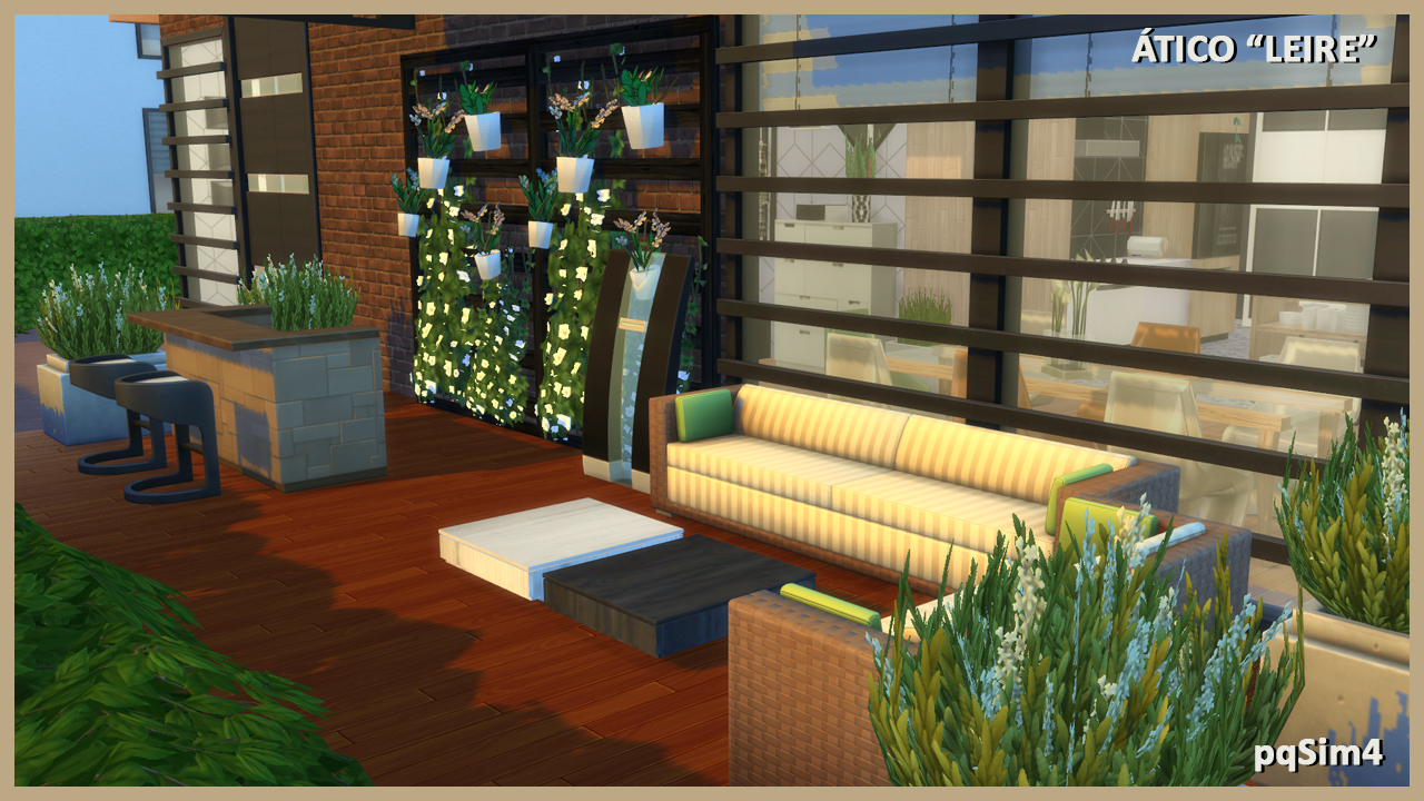 Atico leire sims 4 cc download and speed build video for Sims 4 exterior design