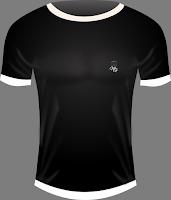 camiseta negra de hombre