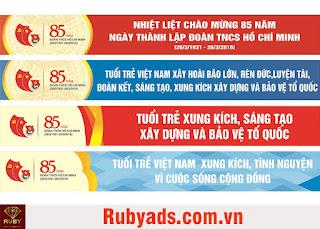 Dịch vụ in băng rôn giá rẻ lấy liền tại xưởng của Rubyads.com.vn
