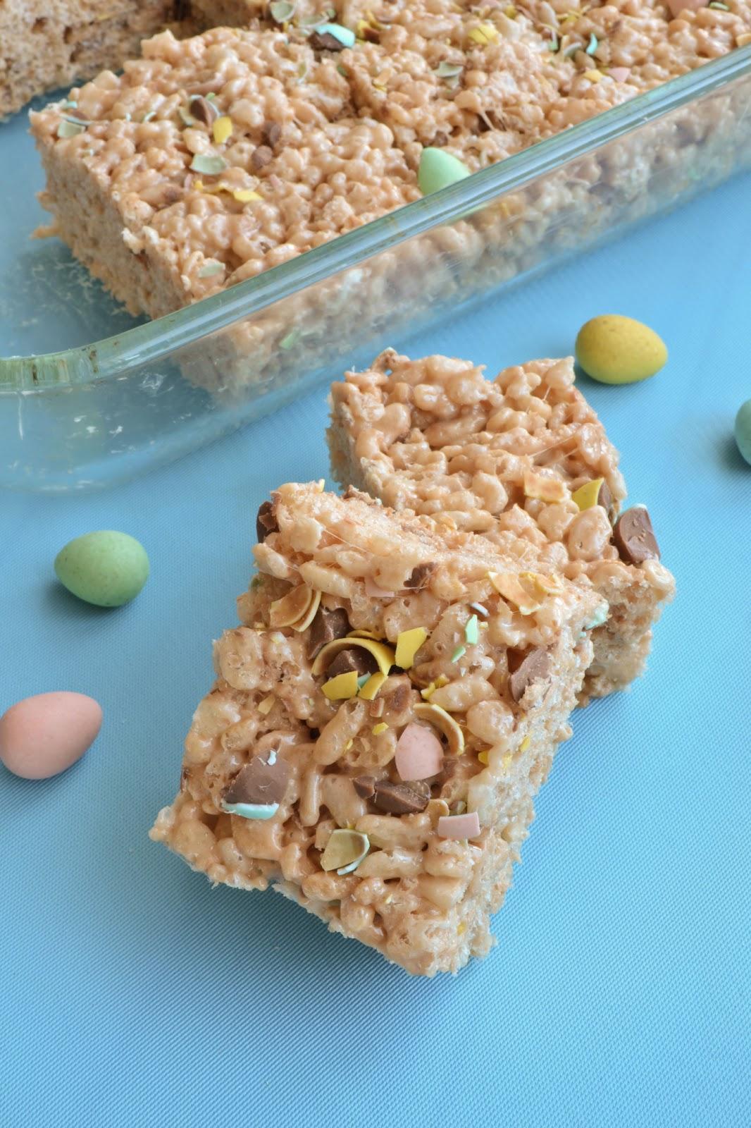 Mini Eggs Rice Krispies Treats