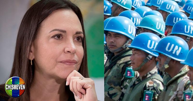 Maria Corina insiste en que la Fuerza Militar Extranjera llegará para sacar a Maduro