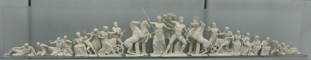 The contest of Athena and Poseidon. West Pediment of the Parthenon Photo Tilemachos Efthimiadis