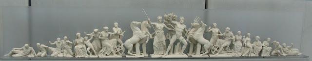 The contest of Athena and Poseidon. West Pediment of the Parthenon Photo Tilemachos Efthimiadis