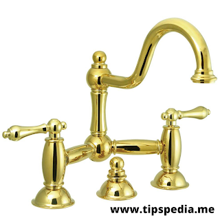 polished brass bathroom sink faucets