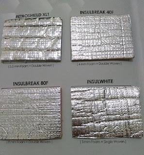 Beberapa tipe produk insulasi AIR-CELL