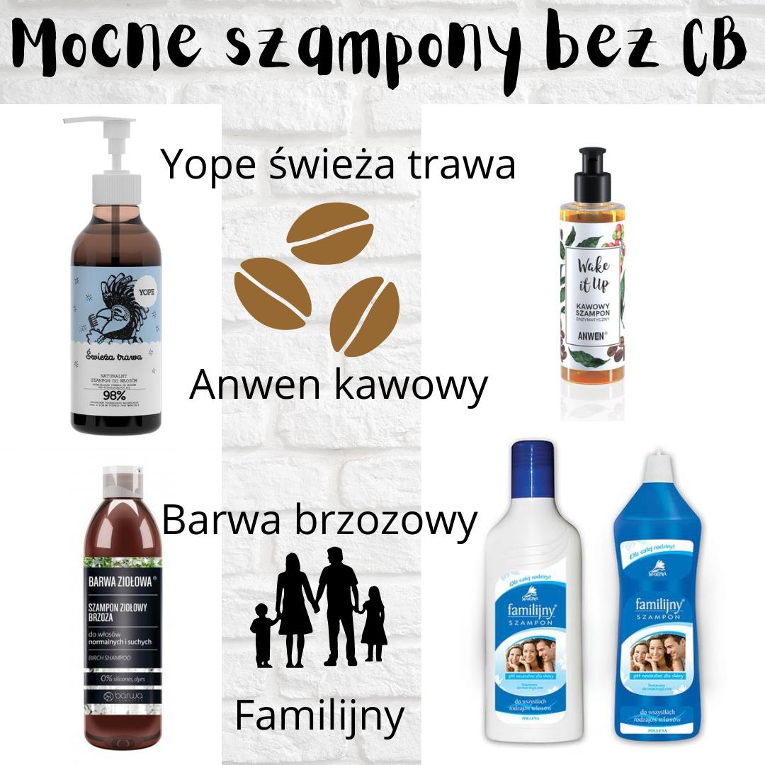 MOCNE SZAMPONY BEZ COCAMIDOPROPYL BETAINE