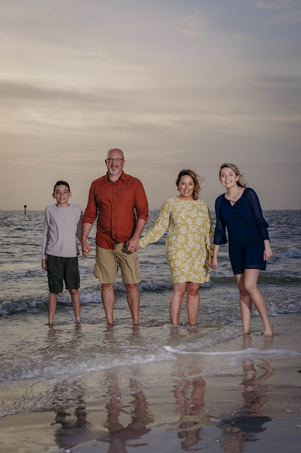 professional family portrait on fort myers beach