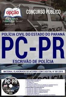 downlaod apostila Concurso PC PR 2018 pdf grátis