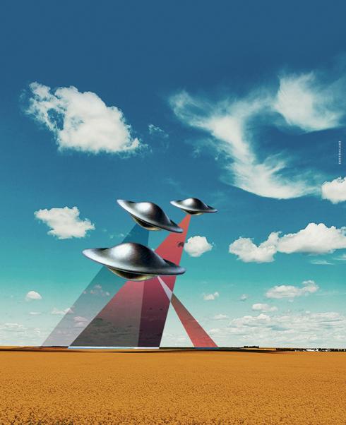 UFO Alberta Art Print