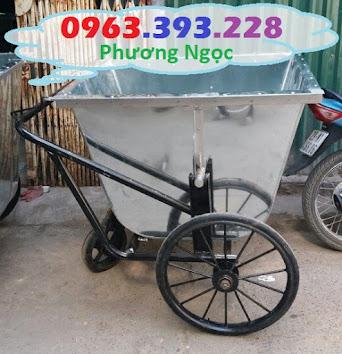 Xe gom rác bằng tôn 3 bánh, xe rác tôn 400 Lít, xe thu gom rác tôn, xe đẩy rác XRT400L6