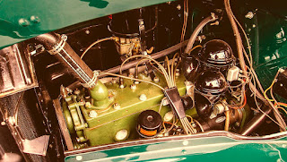 1938 Packard Six Luxury Convertible Engine