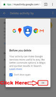 delete google search history in android