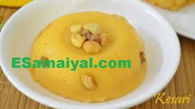 பால் ரவா கேசரி செய்வது | Milk Rava Kesari !