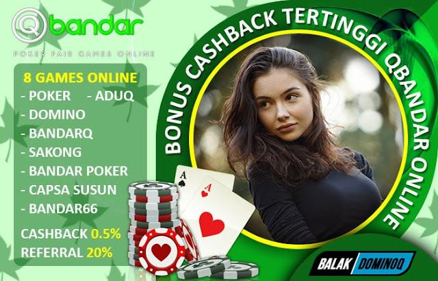 Bonus Cashback Tertinggi Qbandar Online