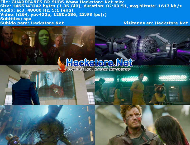 Capturas de Guardianes de la Galaxia (2014) Blu-Ray RIP HD Subtitulada