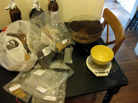 More than five pounds of specialty malts, probably the most I've used in a 5 gallon batch.