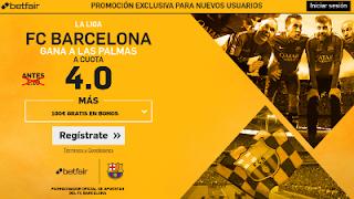 betfair supercuota 4 Barcelona gana Las Palmas Liga 14 mayo