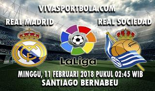 Prediksi Real Madrid vs Real Sociedad 11 Februari 2018