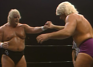 NWA Starrcade 1985 - Dusty Rhodes battled Ric Flair for the World Heavyweight Championship