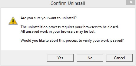 Confirm Uninstall Chromium