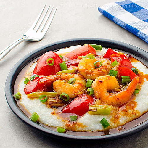 Asian-Style Shrimp and Grits