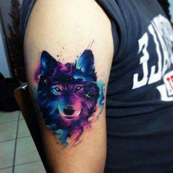 galaxy wolf tattoo tumblr