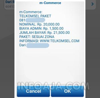 beli paket telkomsel dari bca mobile