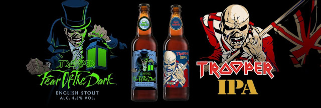 "Iron Maiden anuncia duas novas cervejas: ""Fear Of The Dark"" e ""Trooper IPA"""