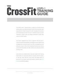 THE CROSSFIT TRAINING GUIDE PDF