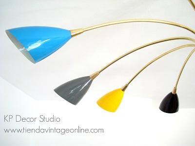 lámparas vintage de techo diseño lujo calidad antigüedades años 50
