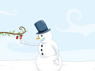 Cute Snowman Winter Wallpaper