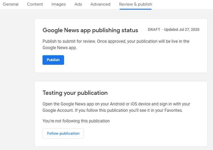 Tab Google News