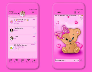 Teddy Bear & Butterfly Theme For YOWhatsApp & Fouad WhatsApp By Mary Silva