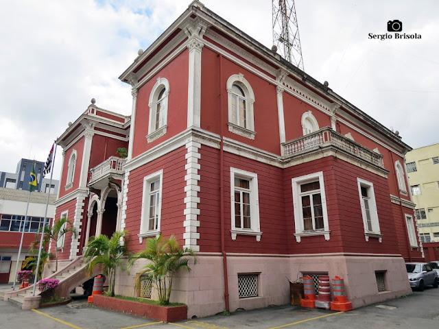 Vista ampla das fachadas do lindo palacete do Centro de Memória do Corpo de Bombeiros - Vila Mariana - São Paulo