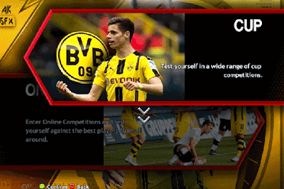PES 2013 BORUSIA DORTMUND MENU GRAPHIC AND VIDEO BACKGROUND SEASON 2016/1017