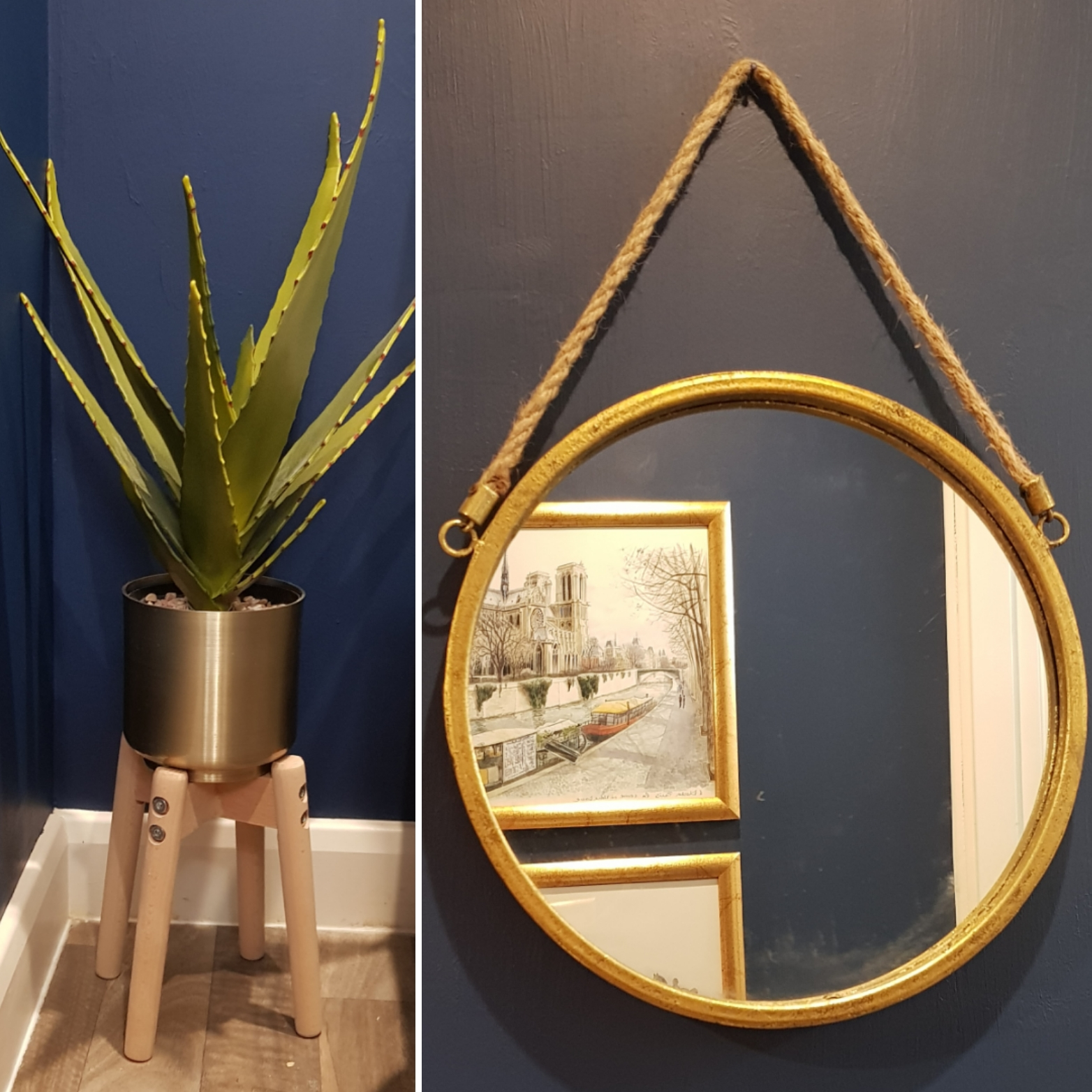 Budget Room Makeover: Plant & Mirror