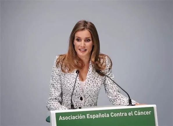 Princess Letizia at Spanish Association Against Cancer Congress at Palacio Municipal