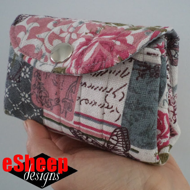 Mini Accordion Pouch crafted by eSheep Designs