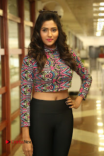 Actress Shalu Chourasiya Stills in Black Leggings at Marriage Needs Bridal Fashion Week 2017 Logo Launch  0001.JPG