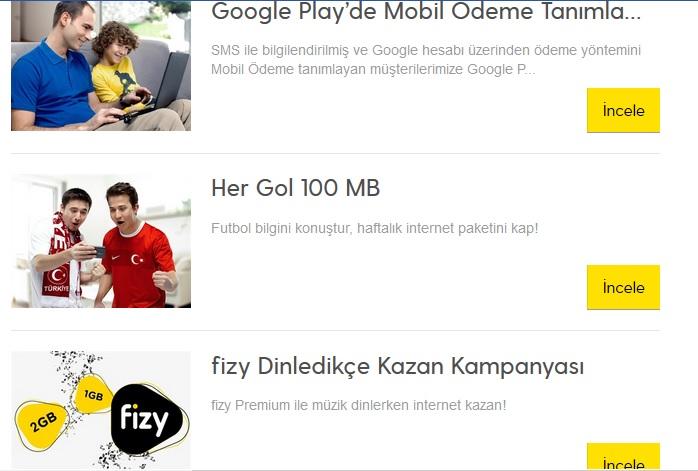 Turkcell Beleş İnternet Kampanyaları