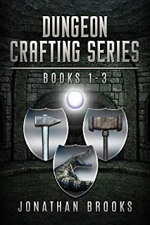 Dungeon Crafting Series Books 1-3 - LitRPG/Dungeon Core book promotion sites Jonathan Brooks