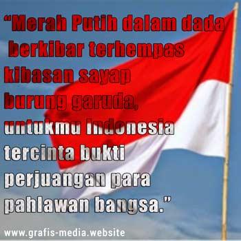 8 Gambar Kata Bijak Bendera Merah Putih Grafis Media