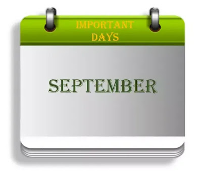 Important Days in  September