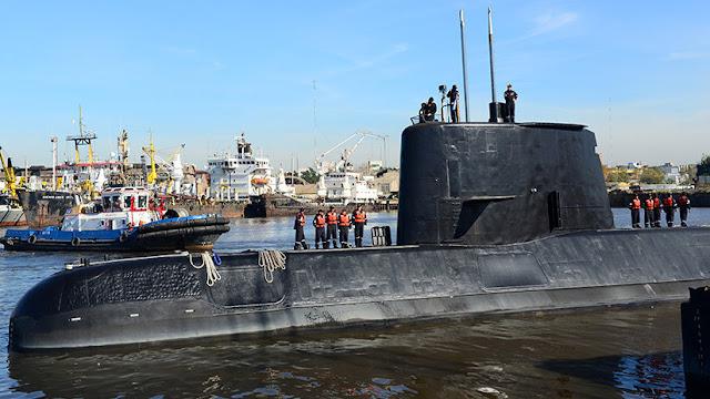 """ARA San Juan: Detectan """"un nuevo contacto"""" en la zona del submarino desaparecido"""