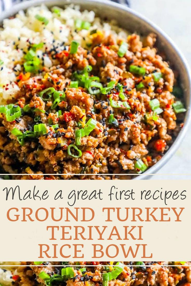 GROUND TURKEY TERIYAKI RICE BOWL - World Dessert Recipes
