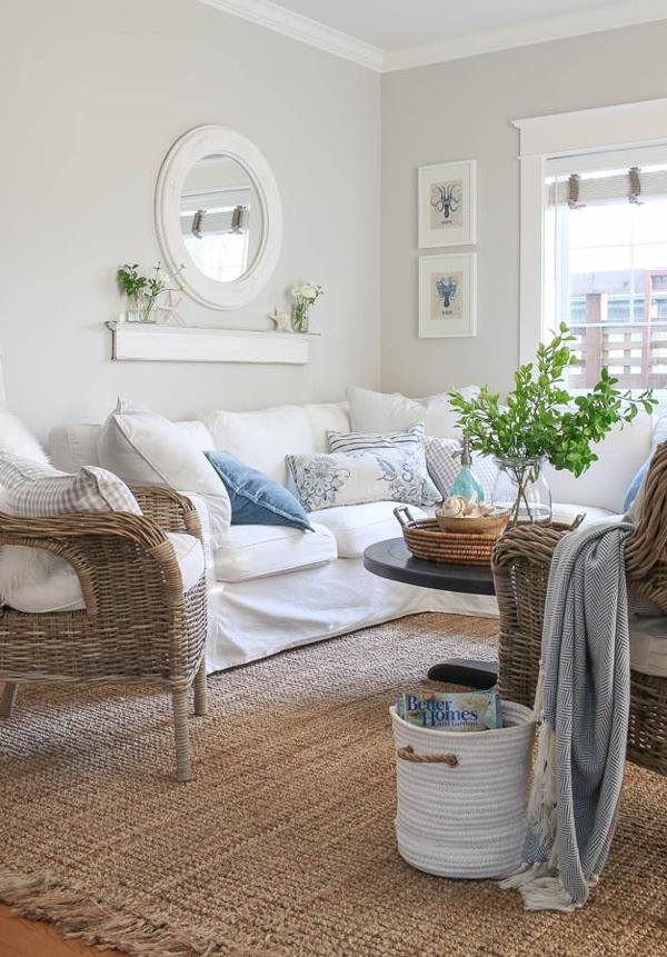 Benjamin Moore Balboa Mist Living Room