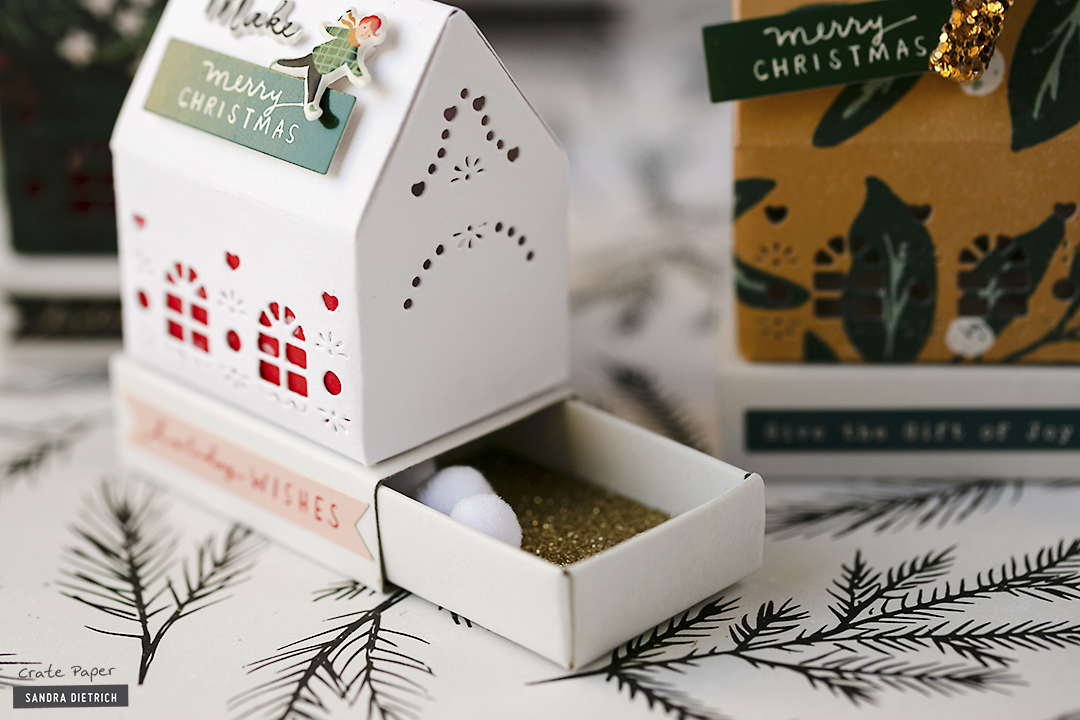 Crate Paper | Christmas Decorative Houses Close-Up | Merry Days Collection