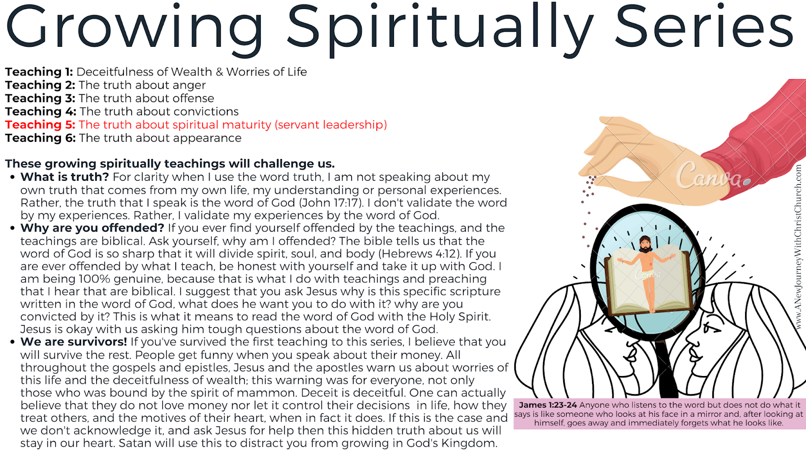 Growing Spiritually 5 of 6: The Truth About Maturity