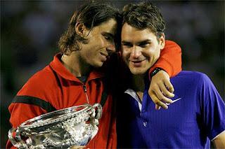 Rafa Nadal and Roger Federer Australian Open 2009 final