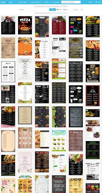 Crea menús y flyers sin Microsoft Word o programas de diseño